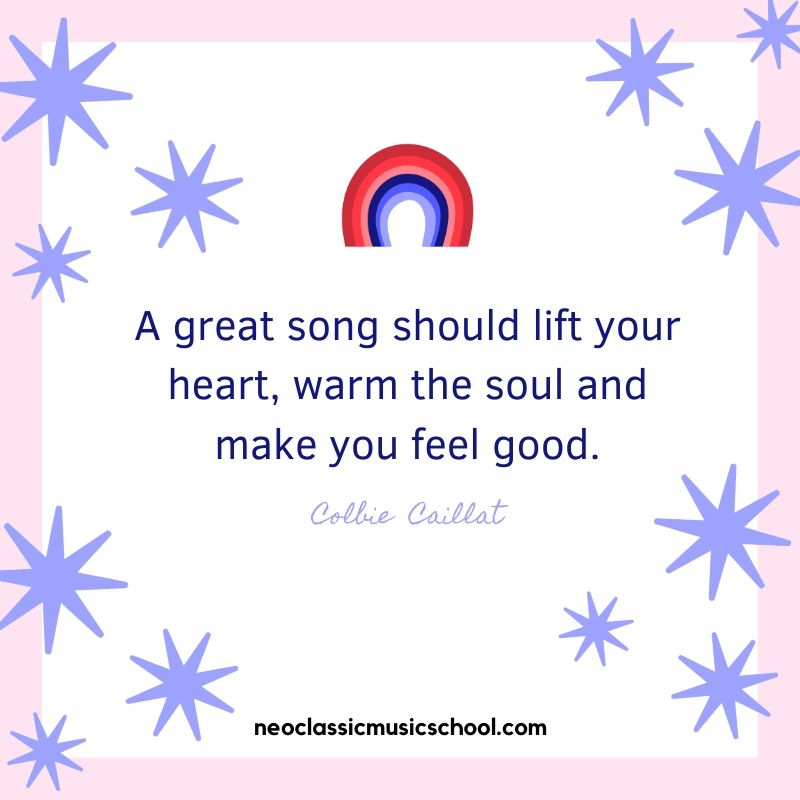 A great song should lift your heart, warm the soul and make you feel good.